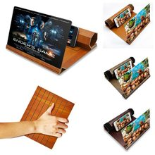 Stereoscopic Amplifying 12 Inch Desktop Wood Bracket Mobile Phone Video Screen Magnifier Amplifier Holder Mount NANO CINEMA(China)