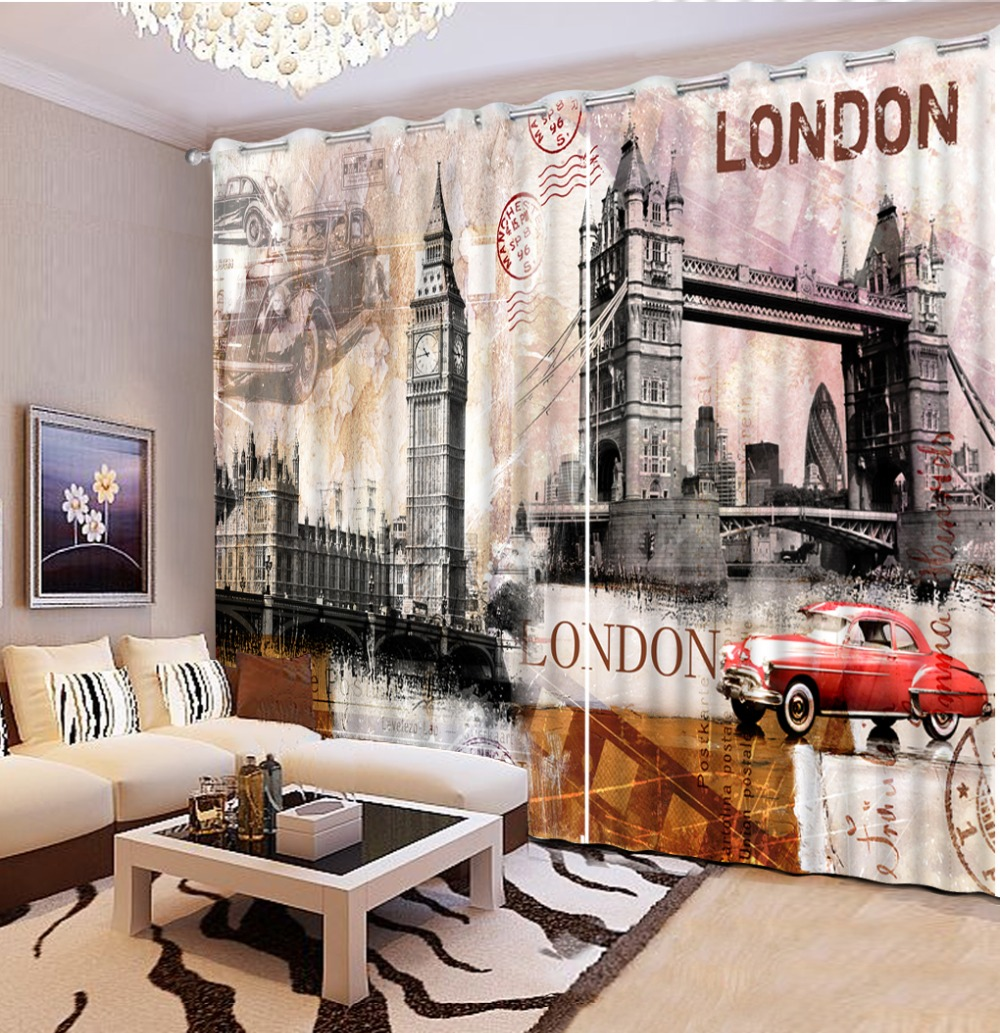customize window set curtains building living room curtains for bedroom blackout window curtain 3d British style       customize window set curtains building living room curtains for bedroom blackout window curtain 3d British style