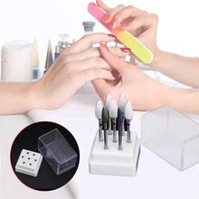 7-hole Empty Nail Art Grinding Head Tools Show Box Transparent Display Storage Rack Case for File Tips of the Machi