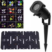 12 Pattern Films Laser Projector Light led Stage Lights Garden Outdoor Waterproof Christmas Tree Xmas Holiday Shower Lighting Stage Lighting Effect     -