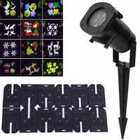 12 Pattern Films Laser Projector Light led Stage Lights Garden Outdoor Waterproof Christmas Tree Xmas Holiday Shower Lighting