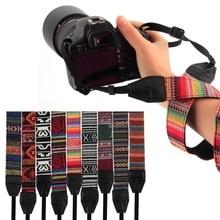3 в 1 ремни для камеры, винтажный стиль хиппи, Холщовый ремешок на плечо, прочный хлопок для Nikon/Pentax/sony/Canon DSLR камеры