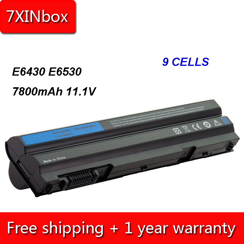 7XINbox 9cell 7800mAh T54FJ M5Y0X Battery For Dell Latitude E5420 E5520 E6420 E6430 8858X KJ321 P9TJ0 PRRRF T54F3 UJ499 009K6P