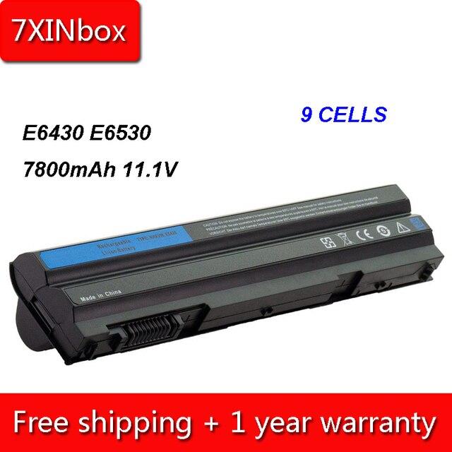 7 xinbox 9 ячеек 7800 мАч T54FJ M5Y0X Батарея для Dell Latitude E5420 E5520 E6420 E6430 8858X KJ321 P9TJ0 prrrf T54F3 UJ499 009K6P