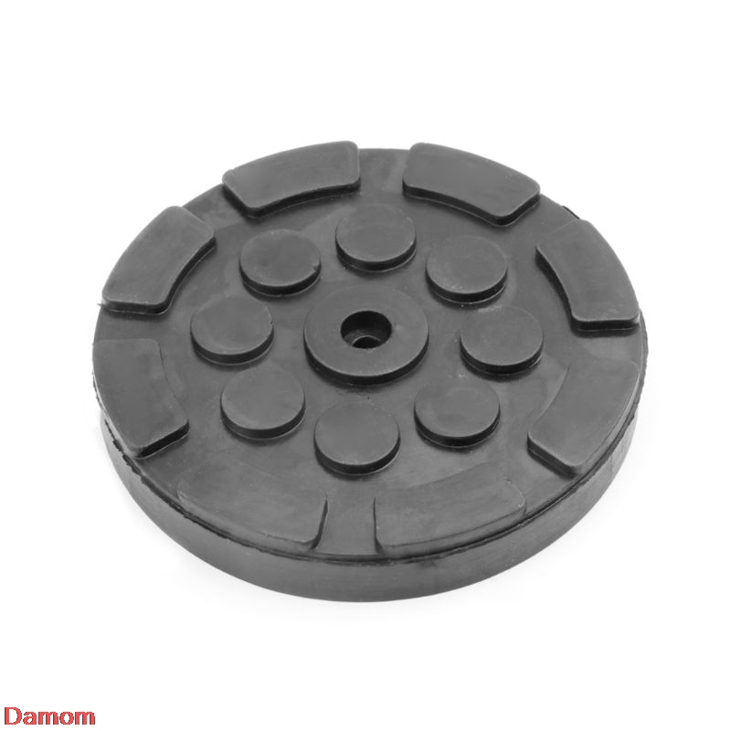 Black Rubber Jacking Pad Anti-slip Surface Tool Rail Protector Heavy Duty For Car Lift