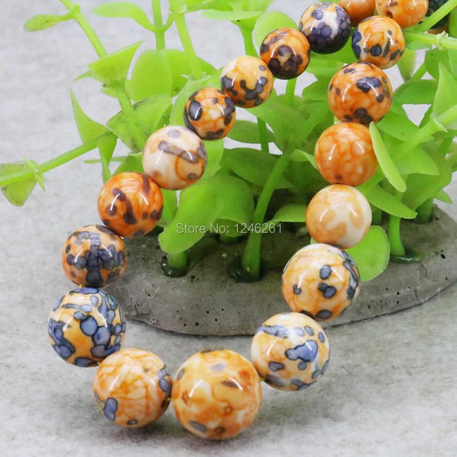 High Quality Tower Necklace Chain Riverstones Rain Flower Rainbow Semi-precious Stone Fashion Jewelry Women Girls 6-14mm 15inch