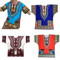 דפוס סגנון הלאומי אפריקאי של הגברים הגעה חדשים בציר בתוספת גודל חולצה טריקו השרוול הקצר טי