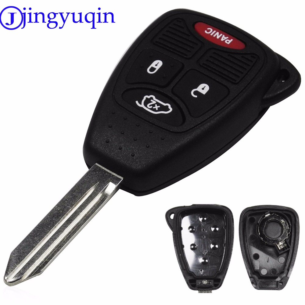 цена на jingyuqin 4 Buttons Remote Key Shell For Jeep Chrysler Liberty Pacifica Sebring Aspen 300 Town PT Cruiser D-odge Magnum Charger