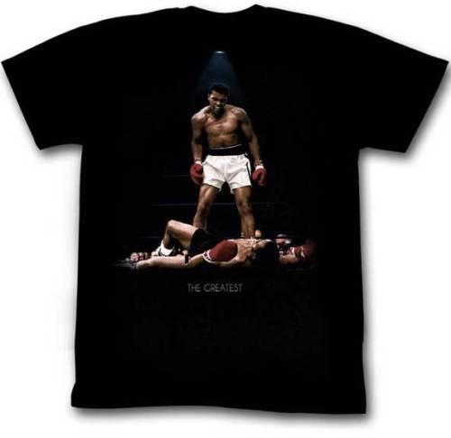 Muhammad Ali Boxinger Champ The Greatest Sonny Liston Knockout Adult T Shirt Novelty O-Neck Tops