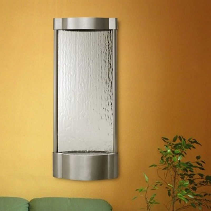 Stainless Steel Metal Wall Water Fountain With Polished Surface For Home Decoration
