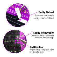 NAGARAKU,16Rows,Faux mink individual eyelash extension, cilia lashes extension for professionals,soft mink eyelash extension