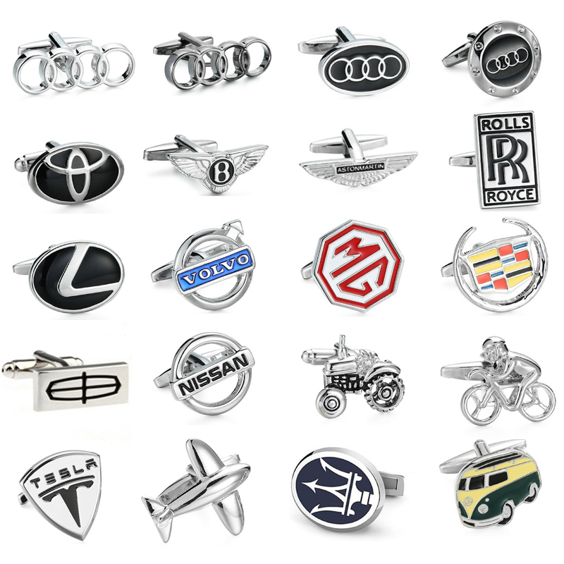 Free delivery, high quality men's shirt cufflinks brand new car logo button MG/VOLVO/ Lincoln / Cadillac / Audi Cufflinks free shipping high quality men s shirt cufflinks plane anchor bike car motorcycle transportation automobile cufflinks