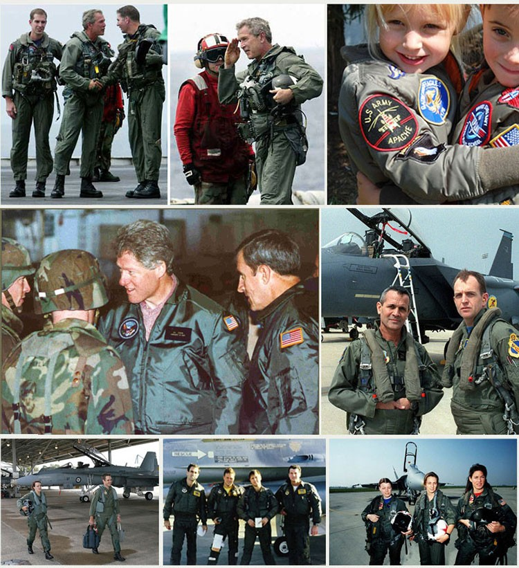 Men Bomber Jackets Flight Pilot Jacket Coat Nasa Air Force Embroidery Baseball Uniform Military Style Coats Army Green Black (13)