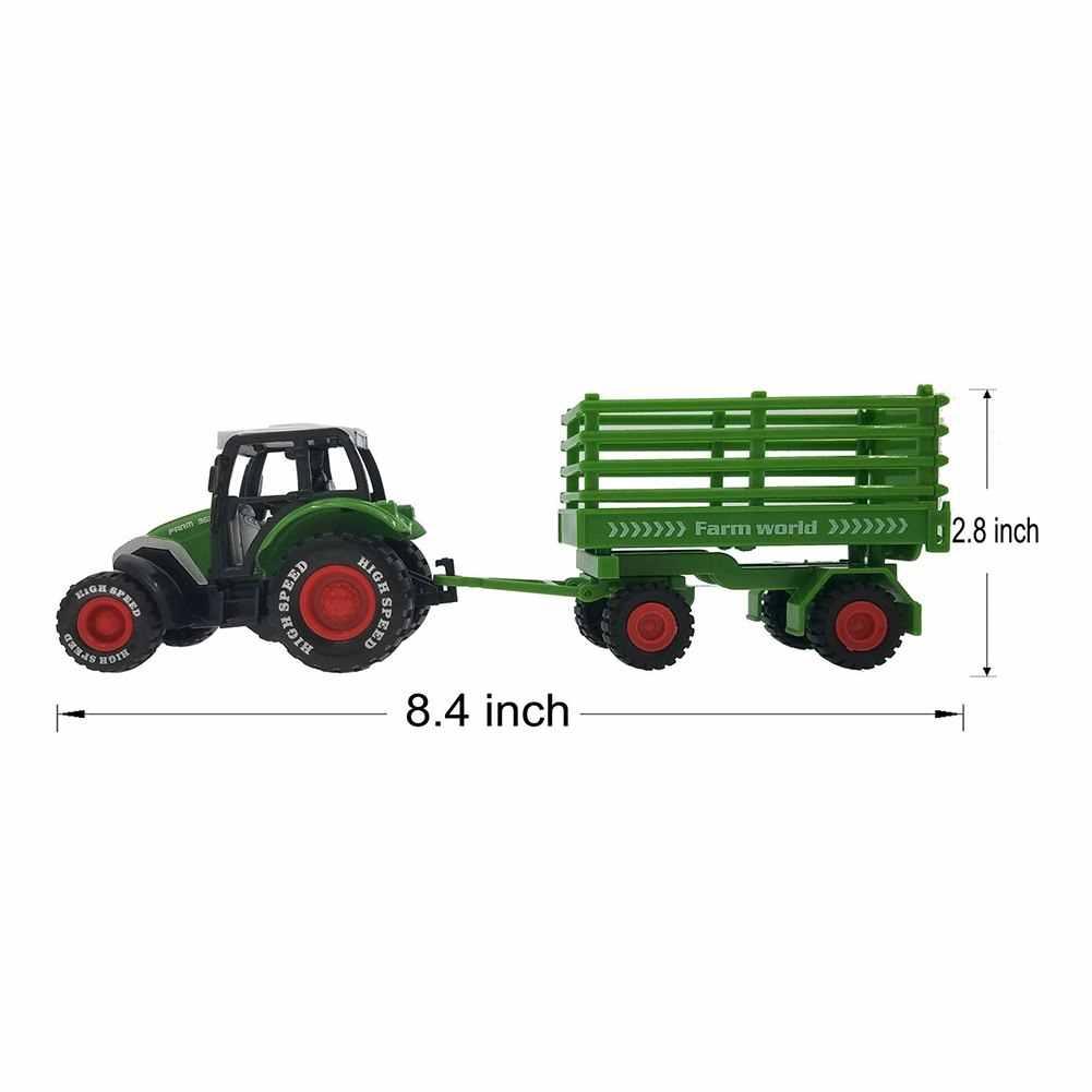 MALI-Model Traktor Pertanian Set Mainan Simulasi Tinggi Model Pertanian Traktor untuk Anak Laki-laki dan Perempuan