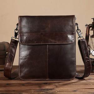 2b89708bb5 BAOERSEN Genuine Leather Men Messenger Shoulder Luxury Bag