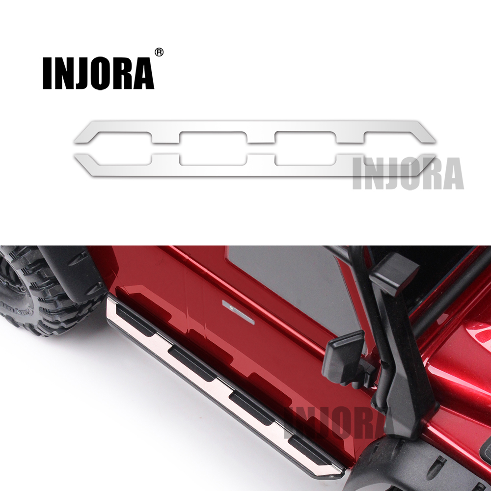 Injora 2 unids metal Placa de pedal lateral para 1:10 RC Rock crawler traxxas TRX-4 TRX4
