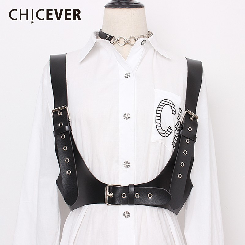 CHICEVER Belt For Women High Waist Vintage Strap Dresses Accessories PU Solid Belts Female 2020 Summer Fashion New Tide