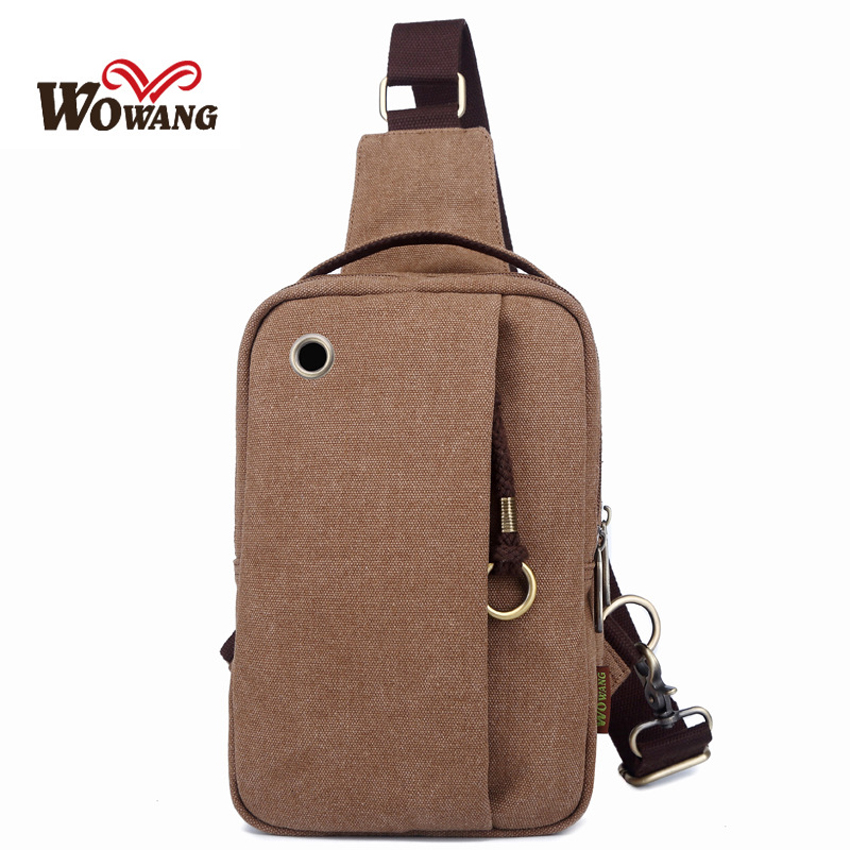 75e488de665 Wowang Brand 2016 New Fashion Man Shoulder Bag Men Canvas Messenger Bags  Casual Travel Military Bag W029