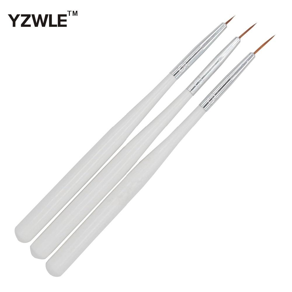 WUF 3 PCS/Pack Nail Art Painting Drawing Brush / Practical Nail Tools Portable Nail Brushes 25