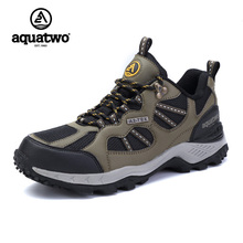 AQUATWO Mens Sports Outdoor Hiking Trekking Shoes For Men Spring Autumn Sport Breathable Climbing Mountain Shoes Sneakers Man