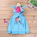 2016 осень-весна детская одежда толстовки животных символов кофты для девочки зимняя одежда