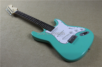 Classical green st electric guitar, special customization scalloped rosewood fingerboard guitar.