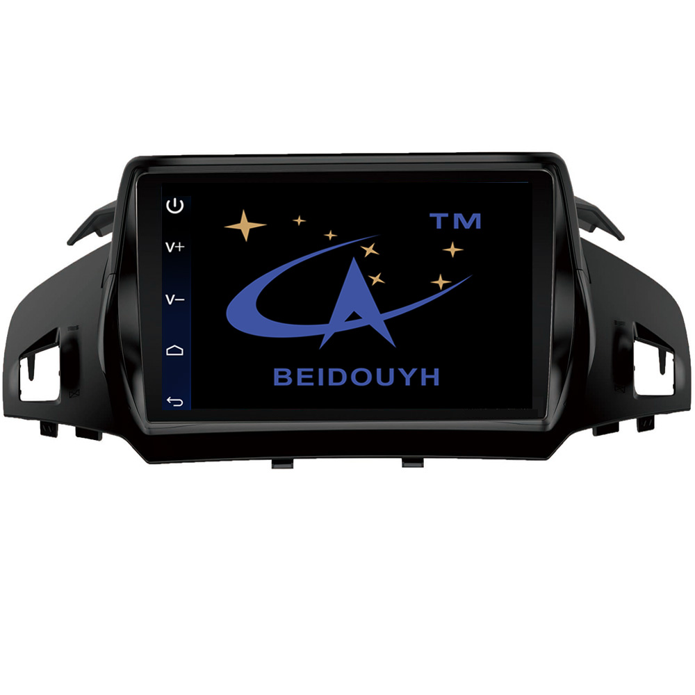Beidouyh android car stereo gps navigation for ford kuga lc 2013 2017 car radio support bluetooth wifi can bus dvr swc usb