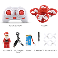 Hight Quality Santa Claus Quadcopter Helicopter Christmas Toy Remote Control Aircraft With LED Light Christmas Music