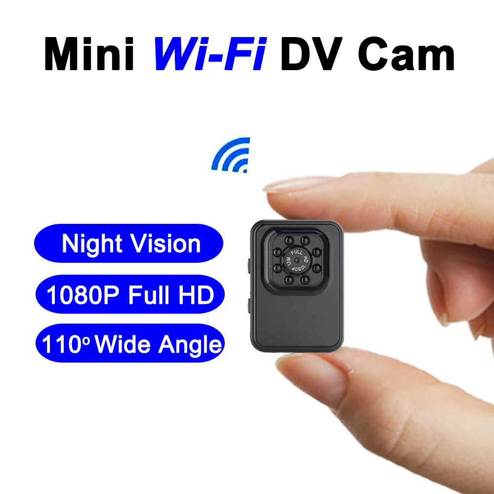 R3 WiFi 1080P Full HD Mini Camera Anti Shake Camecorder Night Vision 110 Degree Wide Angle Micro Action Cam Bike Helmet Sport