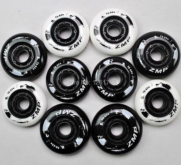 Prix pour Livraison gratuite! patins à roulettes PU roues, version européenne hanawa plat roue de freins de poulie roue skate roues/72/76/80mm85a
