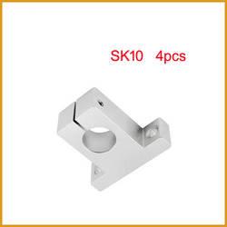 Sk10 4 шт./лот Бесплатная доставка SK10 10 мм линейный подшипника вала рельса таблицы поддержки XYZ ЧПУ SH10A