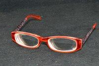 Women Lady high myopic red myodisc glasses for high myopia -9 D PD 62