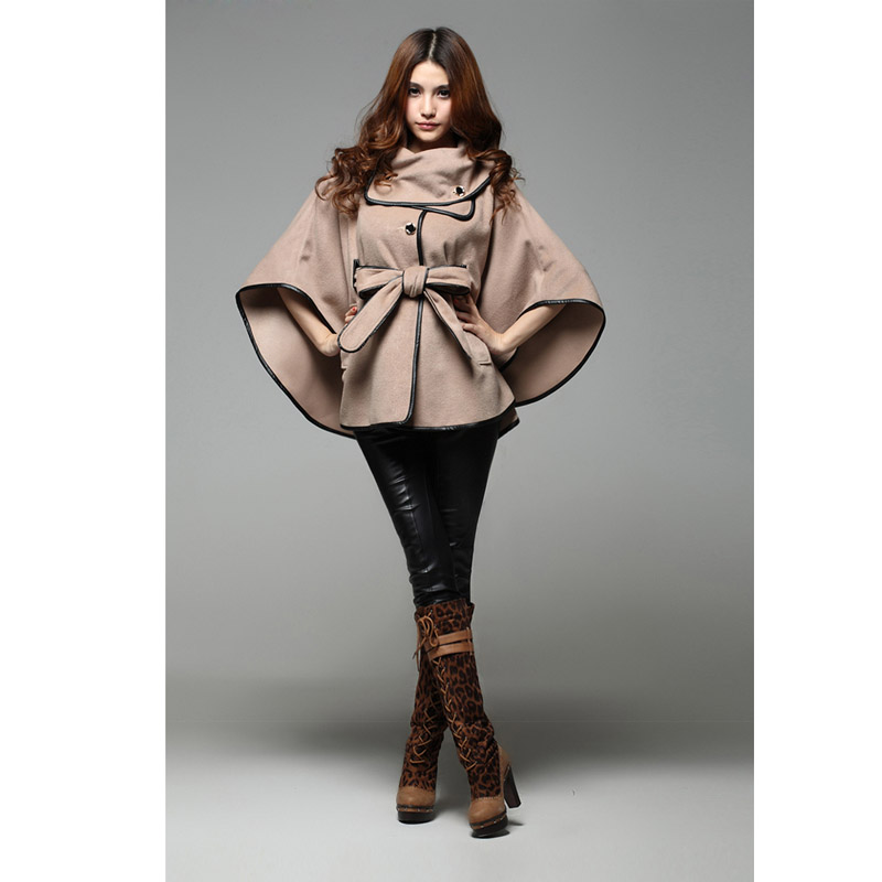 Hot Sale Ladies Cashmere Blends Poncho Coat, Fashion ...