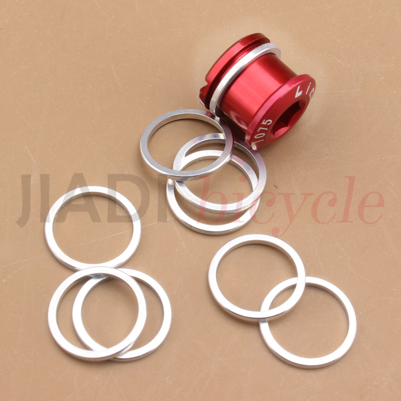 5pcs CNC Alloy Spacer Shim For Bicycle Chainring Bolt Screws 1mm New Hot Silver