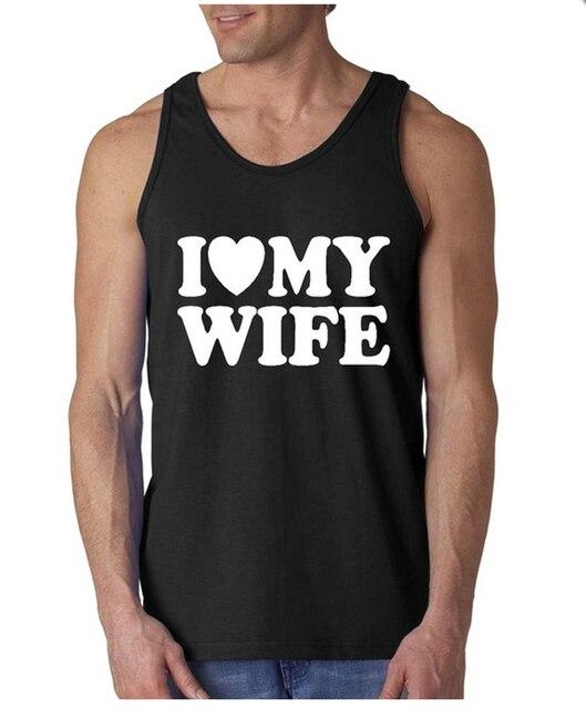 I Heart My esposa / eu amo meu marido Coupls Mens / Womens tanque mangas Tops adulto tamanho S-2XL casais tanques