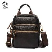 KUJING Fashion Leather Men's Bag High-grade Leather Men Shoulder Messenger Bag Cheap Business Men Bag Hot Travel Leisure Men Bag