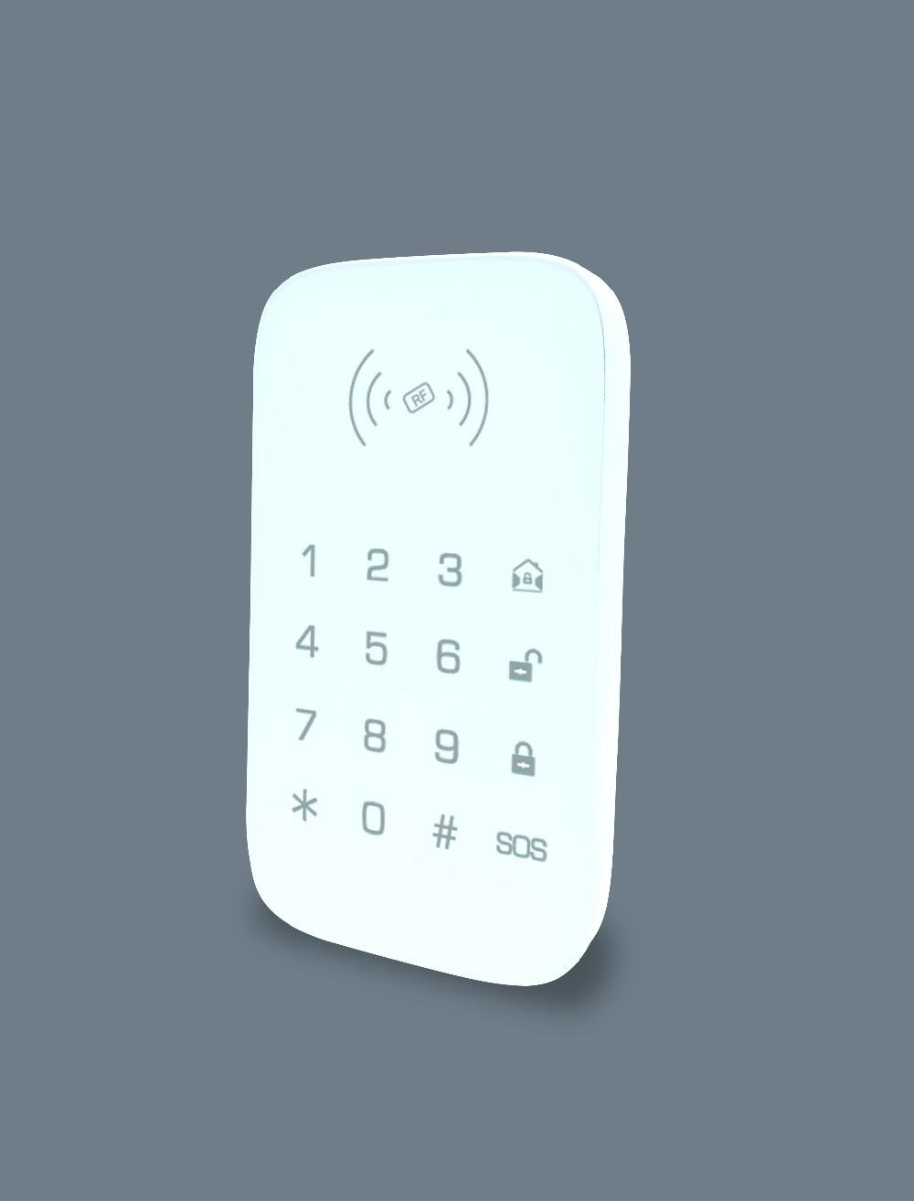 SmartYIBA Touchscreen Tastatur RFID Tastatur mit 2 stücke RFID-Tags Lesen Karten für GSM WIFI Alarm System G90B/ YB103/YB104