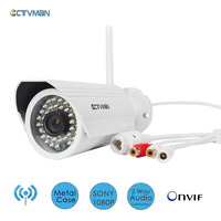 CTVMAN Wi Fi IP Camera Weatherproof Security IP Camera Outdoor Wifi CCTV Cameras 1080p SD Card