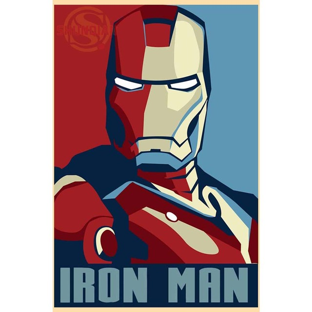 Custom Door Kitchen Fabric Cloth Poster New Iron Man Cool Canvas
