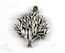 450PCS Tibetan Silver Color tree of life charm A12948