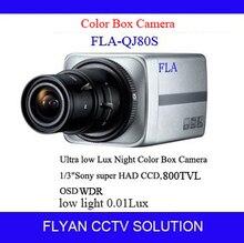 Прозрачный Цвет Коробки CCD Камеры монитор видеонаблюдения 800TVL Sony Ультра Низкой Освещенности 0.01lux Sony effio DSP Box Camaras безопасности-e решение