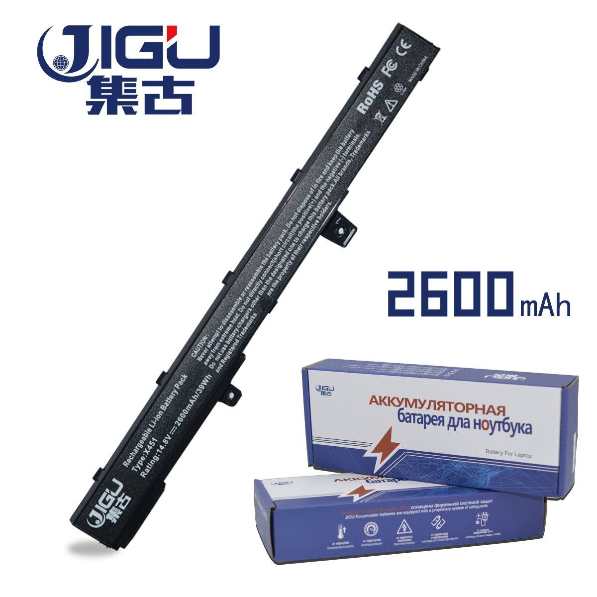 JIGU 2600mah Laptop Battery A31N1319 X551M A41N1308 A31LJ91 For Asus X451CA X451 X551 X451C X451M X551C X551CA