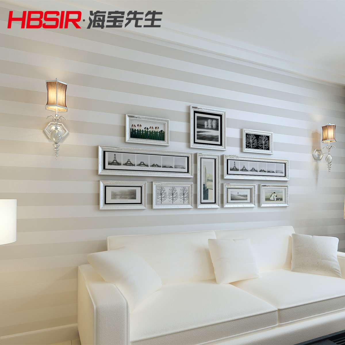 ФОТО 2016 new bestselling contemporary and contracted stripe bedroom living room sofa TV setting wall paper and non-woven wallpaper
