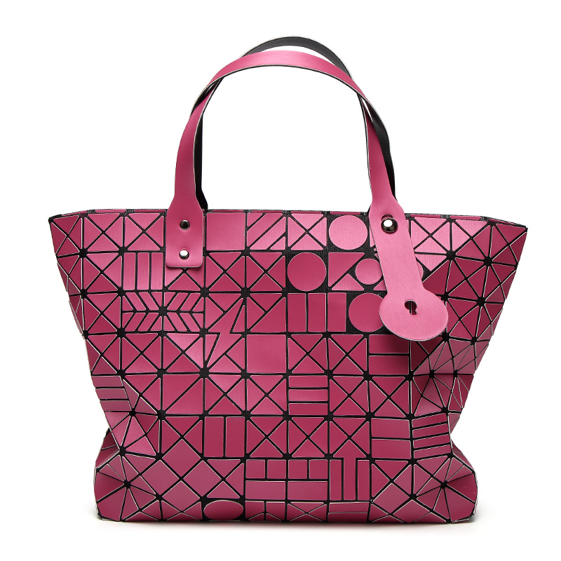 2017 New BaoBao Bag Women Laser Matte Tote Bags Designer Brand Lady Geometry Diamond Lattice Fold Bao Bao Bag Hologram Handbags
