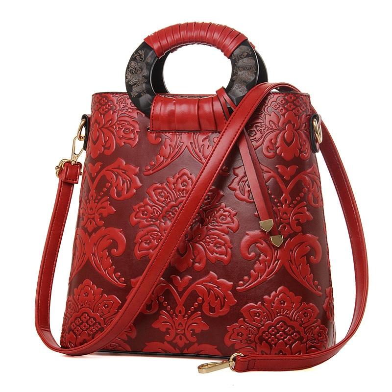 ФОТО 2015 New fashion women bag high quality designer embossed flower handbag pattern leather tote bag ladies handbags wedding