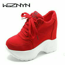 Women Sneakers Mesh Casual Platform Trainers White Shoes 10CM