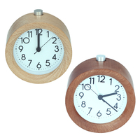 Wooden Snooze Backlight Alarm Clock Battery Powered Desktop Digital Table Clocks