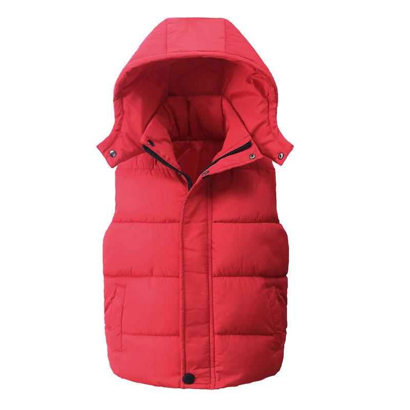 Child Waistcoat Children Outerwear Winter Coats Kids Clothes Warm Hooded Cotton Baby Boys Girls Vest For Age 5-14 Years Old