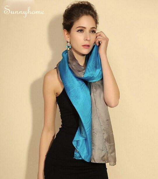 Nouvelle arrivée 100% progressive changer la couleur soie cc écharpe pur écharpe de style européen femmes magie châle marque bonne qualité pashmina