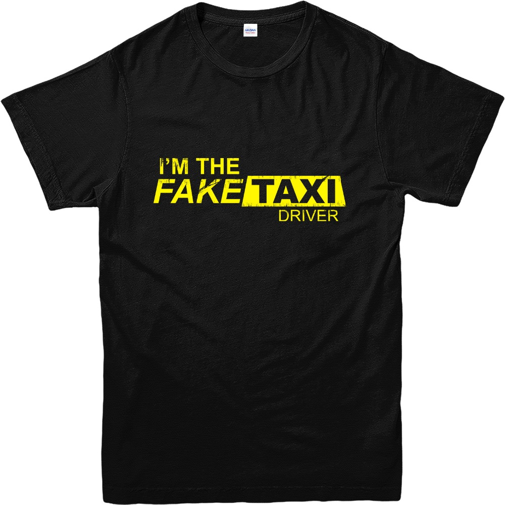 Black t shirt online design - Online T Shirts Design Gildan Crew Neck Short Sleeve Zomer I M The Fake Taxi Driver T Shirts For Men
